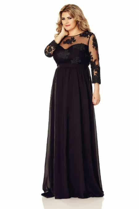rochie neagra plus size elissa
