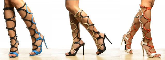 sandale gladiator cu toc pledon