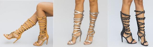 sandale gladiator pajura