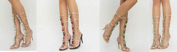 sandale romane cu toc samanda